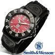 【クーポン対象外】 Smith & Wesson スミス&ウェッソン 455 FIRE FIGHTER WATCH 腕時計 RED/BLACK SWW-455F《WIP》