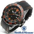 【クーポン対象外】 Smith & Wesson スミス&ウェッソン SCOUT WATCH 腕時計 ORANGE/BLACK SWW-582-OR《WIP》