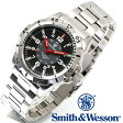 【クーポン対象外】 Smith & Wesson スミス&ウェッソン EMISSARY WATCH 腕時計 SILVER SWISS TRITIUM SWW-88-S《WIP》