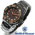 【クーポン対象外】 Smith & Wesson スミス&ウェッソン SWISS TRITIUM DIVER WATCH 腕時計 BLACK/ORANGE SWW-900-OR《WIP》