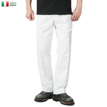 【20%OFFセール開催中】実物 新品 イタリア デッドストック ドレスパンツ ホワイト【キャッシュレス5%還元対象品】
