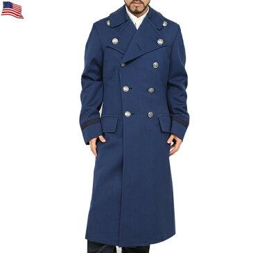 【25%OFF大特価】実物 米軍 U.S.AIR FORCE WOOL BLUE オーバーコート USED メンズ ミリタリー アウター OVERCOAT,MEN'S BLUE ロングコート ウールコート アメリカ軍 米空軍 《WIP》【中古】