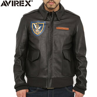 AVIREX avirex-2 美國飛虎隊飛虎隊飛行夾克布朗布朗 6131014 男式軍事外衣皮革夾克皮革 Jean A2 一 2 飛行夾克冷秋/冬 [WIP]