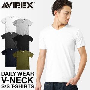 【ポイント10倍】送料無料AVIREX アビレックス デイリー Tシャツ Vネック(6143501)【クーポン対象外】メンズ トップス Tシャツ インナー 無地 アヴィレックス avirex アビレックス AVIREX Tシャツ メンズ
