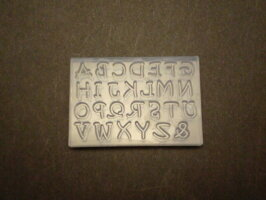 シリコンモールド/T-736アルファベット大文字Mサイズ