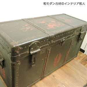[Rare stuff that is not available elsewhere] Former Japanese Army Yi medical box military Box miscellaneous goods Goods storage box with lid Fashionable wooden Japanese modern Taisho romance Showa retro retro antique furniture vintage furniture interior objet display furniture furniture old folk tools old folk house Rakuten