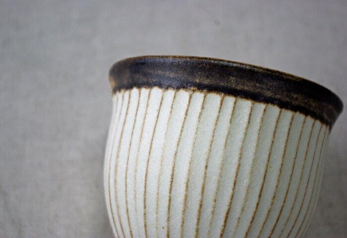 アンティークスリムライン カップ(大) 湯のみ  柔らかなモノトーン 大人かわいい マットな質感 ナチュラル食器 陶器(ss)