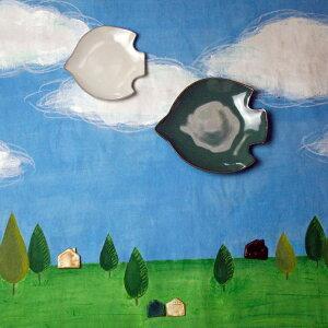 益子焼フリルプレートスクエア(グレーお洒落なマグカップ北欧風食洗機対応電子レンジ可)(ギフト対応名入れ【別料金】)