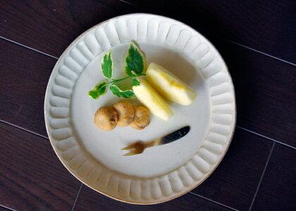 益子kinariシリーズオードブル皿。サラダを盛ったり、ランチプレートやオードブル皿、パーティー皿、パスタ皿にちょうど良いです。一枚あると重宝します。ぜひ、贈り物にも。送料無料