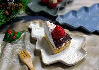 【クリスマス・名入れ】益子焼クリスマスツリーのケーキ皿2000円で送料無料小皿取分け皿皿デザート皿ケーキ皿プレート北欧風おしゃれシンプルモダン名入れ名入れギフト結婚祝い内祝い父の日母の日敬老の日贈答品プレゼント