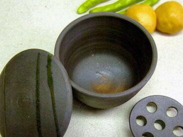 益子焼おひつ コロリ (中) 【・陶器】 電子レンジ対応 []魔法のよう!!電子レンジで冷えたご飯もふっくら温まる。温野菜も野菜が甘い![容量:ご飯茶わん 約1-2杯分(ss)お家カフェ