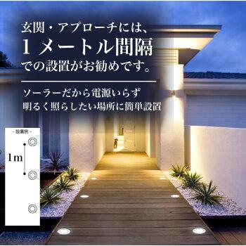 【8個セット】ソーラーライトESL-01屋外埋め込み式埋込式センサー防水白色ガーデンライト太陽光スポットライトLEDハニカム構造ガーデンライトソーラー屋外玄関ライト庭園灯ライトアップライティング配線不要