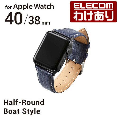腕時計用アクセサリー, 腕時計用ベルト・バンド  Apple Watch 40mm 38mm SE Series 6 5 4 40mm Series 3 2 1 38mm AW-38BDLRBBU3300ELECOM