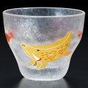 めでた干支盃亥(いのしし)猪口ガラス酒器Sake glass of Japanese zodiac