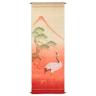 タペストリー:遊 中川タペストリー 鶴と赤富士