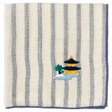 京都ハンカチ 金閣寺 ストライプ スーベニール Kyoto handkerchief