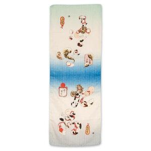 Kuniyoshi's Ukiyo-e fluffy towel Octopus and blowfish