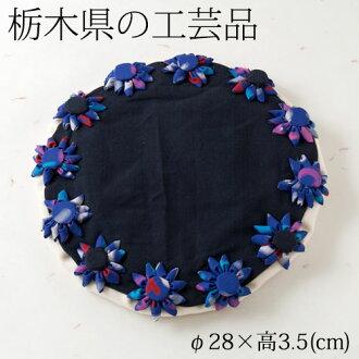 花的布製鍋敷2栃木縣的工藝品Bedding fabric pot of flowers,Tochigi craft