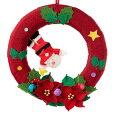 京都夢み屋季節のリース12月クリスマス(IR-12)季節のちりめん掛け飾りスタンド付きSeasonaldecorationofcrepefabric
