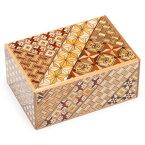 寄木細工 Yosegi-zaiku 秘密箱 4寸10回仕掛け 箱根伝統工芸品