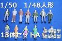 建築模型人形1/50人形A人物鉄道模型のOゲージなどのレイアウトジオラマに!ダイキャストミニカー【メール便可】
