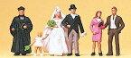 Preiserプライザー10057 結婚式 プロテスタント【HO人形】【塗装済み】【ジオラマ小物】