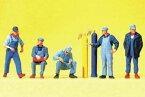 preiserプライザー79214 アメリカの鉄道作業員【Nゲージ人形】【塗装済み】【ジオラマ小物】【メール便可】