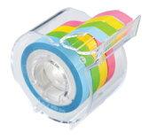 ヤマト メモックロールフィルムテープ 7mm幅 カッター付き RF-7CH 4巻入り (メモックロール メモ メモ帳 シール テープ 付箋 文房具 手帳 名前シール かわいい おしゃれ はがせる 伝言メモ)【あす楽対応】