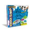 キネティックサンド BOXセット ブルー 4歳 5歳 6歳 7歳 プレゼント(専用トレイ付 型4個付 トレイと型がセット)ギフト 知育玩具