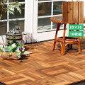 天然木 ウッドパネル 18枚セット ジョイント式 正方形 幅31cm ブランチ アカシア ライトブラウン BRWP300-18P