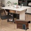 キッチンワゴン バタフライ カウンターテーブル 移動式 幅119.5cm キャスター付き 日本製 完成品 NO-0068/NO-0069
