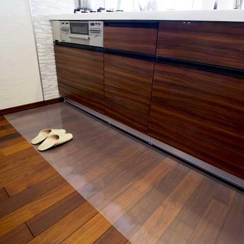 Achilles アキレス 透明キッチンフロアマット 60×180cm キッチンマット 床汚れ防止
