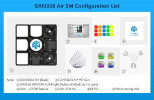 GancubeGAN356AirSMブラック競技向け磁石内蔵3x3x3キューブGAN356AirSMSUPERSPEEDMAGNETBlack