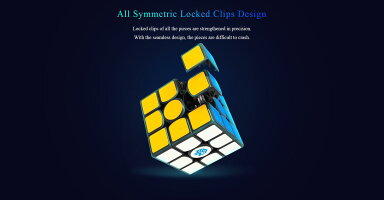 GancubeGAN356X競技向け磁石内蔵3x3x3キューブ(NumericalIPGブラック)