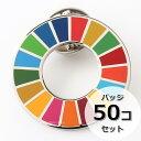 国連ガイドライン対応 SDGs ピンバッジ バッチ バッヂ 1個からまとめ買いまで (平らタイプ50個)