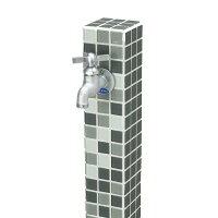 コロル(グレーミックス)お庭やテラスにおしゃれな立水栓!高品質なニッコーの立水栓ユニットをお求めやすい価格で!