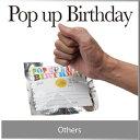 ( あす楽 ) バースデーカード 誕生日 ポップ アップ ハッピー バースデー サプライズ 記念写真 に pop up happy birthday 楽しい 誕生会 バースディ カード 人気 デザイン おしゃれ / WakuWaku