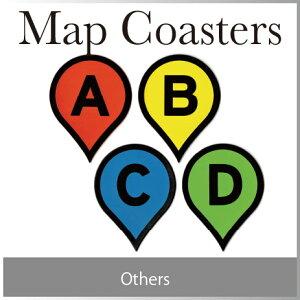 ( あす楽 ) マップピン コースター 地図 アイコン マーク コースター ラバー ゴム Ma…
