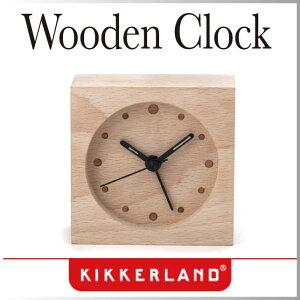 ( あす楽 ) 時計 アラーム クロック ラージウッデンアラームクロック 大 【KIKKERL…