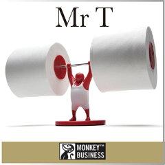 力持ちのMr Tが、がんばるトイレットペーパーホルダー。トイレでそのまま使ったり、トイレット...