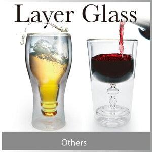 飲み物を注ぐと、もう一つの型が現れる面白いグラス。二重構造のグラスなので、水滴もつきにく...