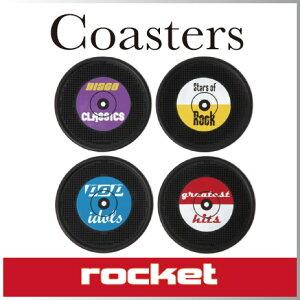 ( あす楽 ) レコードコースター 4枚セット 【 Rocket / ロケット 】 Long …