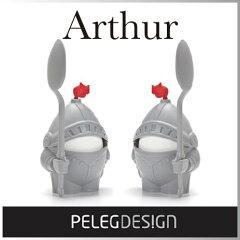 ( あす楽 ) タマゴ 鎧 騎士 アーサーエッグカップ 【 Peleg Design / ペレ…