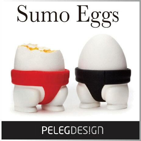 タマゴのフォルムとの相性がピッタリなスモウのエッグカップ。一度見たら忘れないインパクト! 朝から元気になりそうな、スモウのエッグカップです。