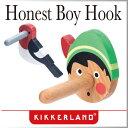 ( あす楽 )壁 フック オネストボーイ フック バードビーク 【 KIKKERLAND/キッカーランド 】Honest Boy Hook コートハンガー コートフック かわいい 木製 木 海外 ピノキオ 鳥 / WakuWaku