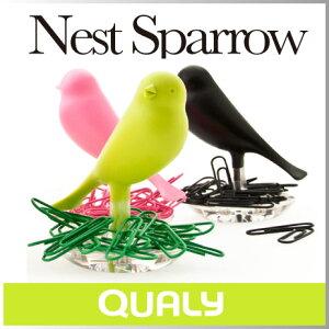 机の上に散らばってしまいがちなクリップを小鳥の巣の材料にして整理整頓できるクリップホルダ...