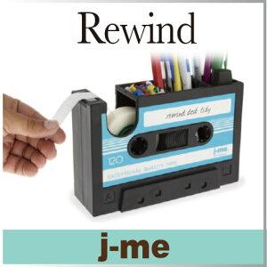 鉛筆やペン、小ぶりな文房具の収納と、テープカッターが一緒になったレトロな ディスペンサー ...