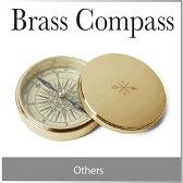( あす楽 ) 真鍮 ブラス コンパス brass compass おしゃれ デザイン ゴールド シルバー デスクオブジェ アンティーク 風 銅 デザイン プレゼント 宝 地図 日当り 方位磁石 方位磁針 / WakuWaku