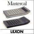 ( あす楽 ) 電卓 カリキュレーター おしゃれ MASTERCAL 【 LEXON / レクソン 】シルバー ブラック シンプル デザイン インテリア 10桁 アクリル 透明 カバー 使いやすい ボタン プレゼント 高級 / WakuWaku