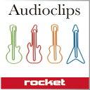( あす楽 ) おもしろ文具 クリップ ギターペーパークリップ 【 Rocket / ロケット 】 Audioclips 変わった デザイン おもしろ 文房具 カラフル 海外 おもしろい ギター 形 セット プレゼント メタル 音楽 好き / WakuWaku
